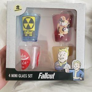 Fallout shot glasses set of 4 NIB